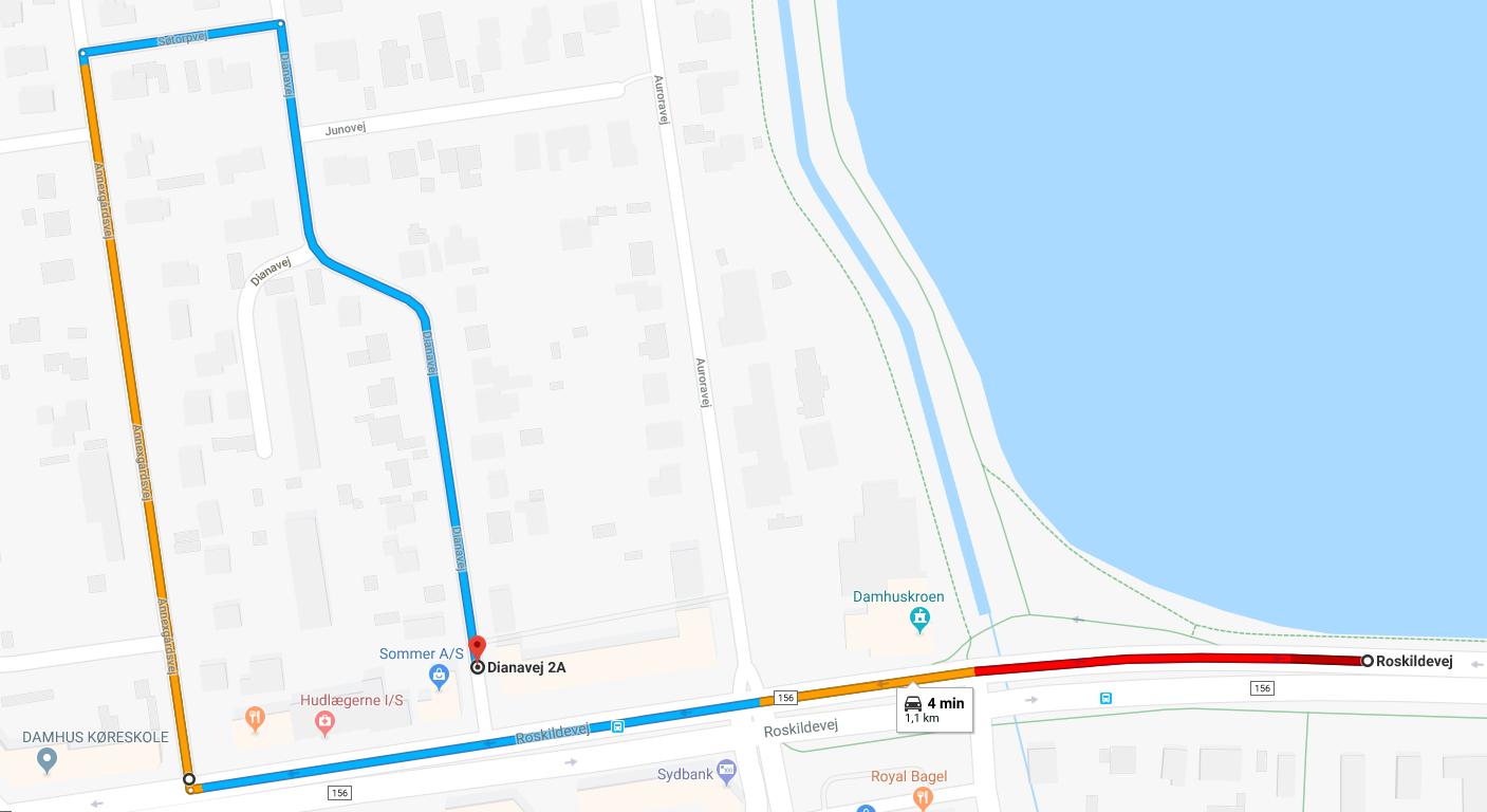 2ffa7d6f Hvis du kommer inde fra København kan du bruge denne vej for at komme til  butikken: